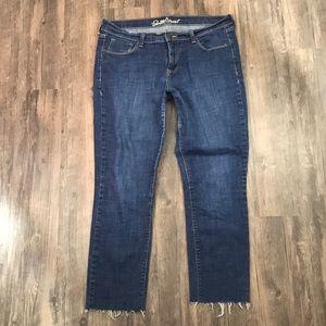 Old Navy Sweetheart Skinny Raw Hem Jeans